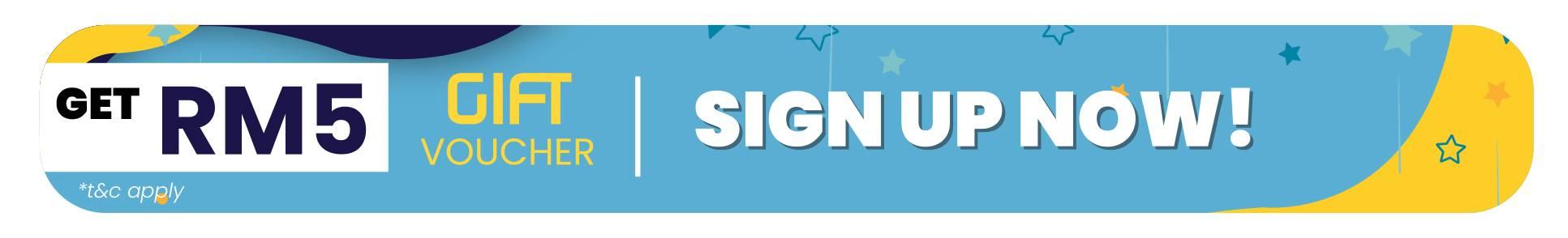 Sign up now & Get RM5 Discount Voucher